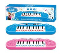 Wholesale Musical instruments toy for kids Frozen girl Cartoon electronic organ toy keyboard electronic baby piano with music song Pink Blue