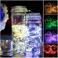 battery operated lights for weddings - 2m leds Battery Power Operated LED Copper Wire Fairy String Lights for Christmas Xmas Home Party wedding event party decoration