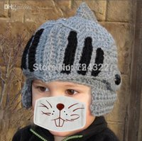 baby ski mask - 2015 New Funny handmade kids children cap baby hat Beard Octopus cap Roman knight hat crochet beanie ski mask hat