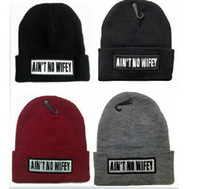 aint no wifey - Hot Sale AINT NO WIFEY Knitted Hat For Women Men BBOY sports hip hop winter Beanie gorro men