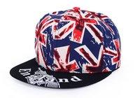 american flag caps - The new European and American hip hop cap British flag tidal flat hat man sun lovers hat stylish men tide female accessories