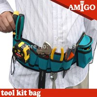 Wholesale Waterproof Multifunctional Waist Bag Canvas Wearing On Lumbar Tool Bag For Easy To Carry Tool