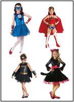 batman themes - 9 designs Girls Halloween Lace Dresses Avengers Batman Cosplay Performance dresses The pirates theme costume dresses for cm girls