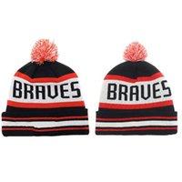 Nueva moda de gorrita tejida de Atlanta Braves calidad superior tapa marca gorros sombreros gorros Cool mejor mujeres gorros gorros baratos gorros