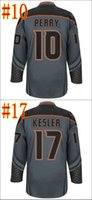 Ice Hockey Unisex Full Discount Authentic Anaheim Ducks Cross Check Premier Fashion Storm Hockey Jerseys Wholesale Embroidery Logos Mix Order