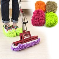 Wholesale Dust Cleaner House Bathroom Floor Cleaning Mop Cleaner Slipper Lazy Shoes Cover FZ1000