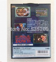 Wholesale Sega games card Eliminate Down with Box and Manual for Sega MegaDrive Video Game Console bit MD card