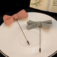 Wholesale Korean Fashion Brief Sweet Bowknots Brooches Hot selling Mix Colors