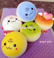 bakery bread - 20pcs Update Styles Sweet Bakery Scented Face Bread Bun Squishy Charm With Tag