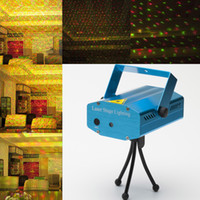 mini laser light show - US Stock Mini LED Red Green Laser Stage Lighting Lase Stage Party Disco Light Lights Show Projector LED Bar KTV Effect UL FCC Certificate