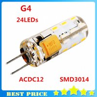 Wholesale 5Pcs G4 SMD Leds W ACDC12V Crystal Silicone Waterproof White Warm White Mini Corn Led Lights Bulb