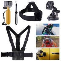camera hand strap grip - AOBONA Accessories Set in Suction Cup Hand Grip Floating Mount Head Strap Chest Strap Screws Strap for GoPro Hero Camera