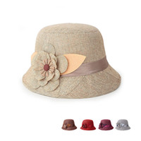 bald hats - spring and summer female in the elderly hat millinery hat fisherman bald linen shade pots hat