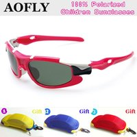 Wholesale New Fashion Cool boy girl polarized sunglasses with car case packing Kids Sunglasses UV400 protection Glasses Outdoor Goggles