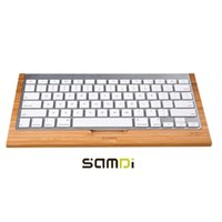 apple imac case - SAMDI Bamboo Bluetooth Wireless Keyboard Stand Protective Case Cover Practical Rack Holder Bracket for Apple iMac PC Computer order lt no tr