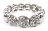 Wholesale whole rhinestone crystal decoration bracelet alloy stretch bracelet color available