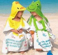 Wholesale HOT SELL new design hooded baby towel Baby bath Robe with Cartoon Terry Bathrobe bath towel Hooded baby bath towel