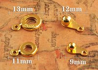 Wholesale 4 color Beaded Snap fastener diy Jewelry accessories alloy Suitable for necklace bracelet Jewelry connection buckle Button