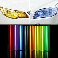Wholesale 2015 New cm Car Sticker Car Light film tint StickerHeadLight Tail light Smoke Fog Light covers stickers for cars