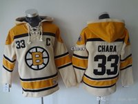 low price hoodies - BrandWholesale Men s Boston Bruins chara beige Hoodies Jersey Ice Hockey Jerseys Best Quality Low Price