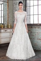 A-Line alexander pink - Charming Justin Alexander Wedding Dresses Long Sleeves With Appliques Custom Made Collar Covered Button Sweep Train Bridal Gowns