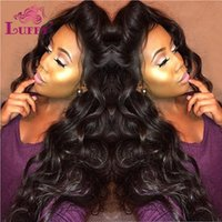 Wholesale 180 Density Glueless Full Lace Wigs Brazilian Wave Curly Full Lace Human Hair Wigs For Black Women Lace Wig With Baby Hair