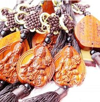 Wholesale Rosewood prayer beads car ornaments automotive interior brown rosewood Chinese knot