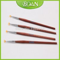 artist paint brushes lot - New Design Nail Brush Simple Design Wooden Handle Nylon Hair Artist Painting Brush