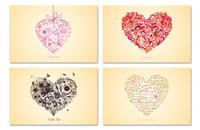 Wholesale pieces set sets Love Series Postcard Gift of love heart pattern mm