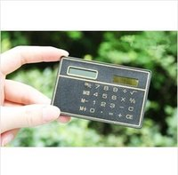 Wholesale 2014 new ultrathin calculator Credit Card Solar Power Pocket Calculator