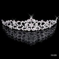 gold tiara - 2014 Popular Bridal Tiaras Headbands K White Gold Crystal Rhinestone Princess Crown Wedding Crowns Queen Bride Hair Accessories Die Krone