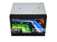 Wholesale car audio din Slide down panel car pc with Analog TV RDS GPS DVD MP3 MP4 Video resolution up to P