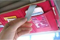Wholesale Multi Function Sun Visor Point Pocket Organizer Pouch Hanging Car Storage Bag Card Holder