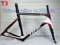 carbon black - 2015 New arrive time skylon carbon fiber road bicycle frame frames brake wind bike black red white