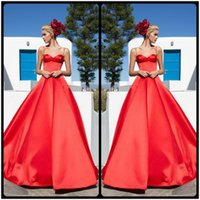 ball stretching pictures - Red Sexy Spaghetti Strap Ball Grown Prom Party Dresses Pageant Dresses for Women Hot Crepe Open Back Stretch Satin Formal Evening