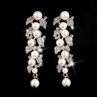 art deco dangle earrings silver - Elegant Pouplar Wedding Earring Bridal Earring Vantage Rhinestone Crystal CZ Earring Art Deco Dangle Earring