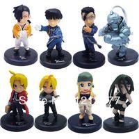 Wholesale 2014 New Sale Japanese Anime Fullmetal Alchemist Mini Figure Set Of