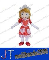 Cheap Professional Sofia the First in red dress Mascot Head Costume Halloween Christmas Birthday Suit Props Costumes Outfit free shipping MYY13839