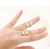Cheap (3 Pieces set) 2015 Fashion Women Jewelry Silver Gold Plated Stacking Midi Rings Charm Band Midi Set Mid Finger Rings