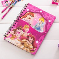 Wholesale Hot Student Notebook Frozen Elsa Anna Princess Spiderman Notepad Student Diary Book CM Cartoon Hard Cover Christmas Toy