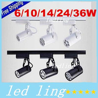 Wholesale CE LED Black White Shell W W W W W Led Track Lights Angle Warm Natural Cool White Led Ceiling Spot Lights