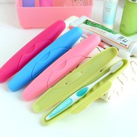 Wholesale pieces Travel Toothbrush Box Candy Color Easy to carry Business Toothbrush Holder porta Cepillo De Dientes CM