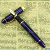 Wholesale Jinhao Twist Carven B Nib Fountain Pen Gold Trim Deep Red Lava Red Deep BlueY122