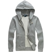 Wholesale new High quality polo hoodies brand men sweatshirt with a hood Cardigan outerwear men Fashion hoodie