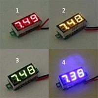 Wholesale 0 Inch DC V V Mini Digital LED Voltmeter Voltage Tester Meter Electrical Instruments