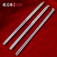 Wholesale S99 Silver Chopsticks one thousand fine silver cutlery chopsticks chopsticks hollow solid high end gifts to send their elders Qu
