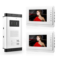 Wholesale New quot Video Door Phone System White Monitor HD Camera for Apartment Unit Intercom free shpping
