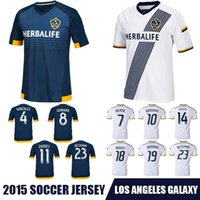 Wholesale Whosales Discount LA Galaxy Soccer Jersey La Galaxy Jersey Custom BECKHAM GERRARD Soccer uniforms New Top