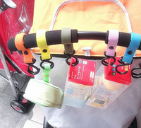 Wholesale 10pcs New Plastic Baby Stroller Pram Pushchair Hanger Hanging Hooks baby clothes