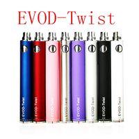 Wholesale evod twist mah Electronic cigarette ego battery EVOD twist batteries evod kits ecig batteries freeshipping